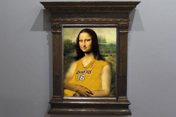La Gioconda ficha por los Lakers tras la marcha de Pau Gasol.Parodia por @c_isabelromero